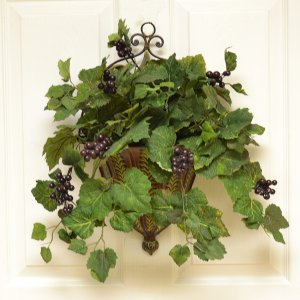 Metal Wall Sconce with Grape Ivy - Wall Accent SC05 ... on Decorative Wall Sconces For Flowers Arrangements id=77002