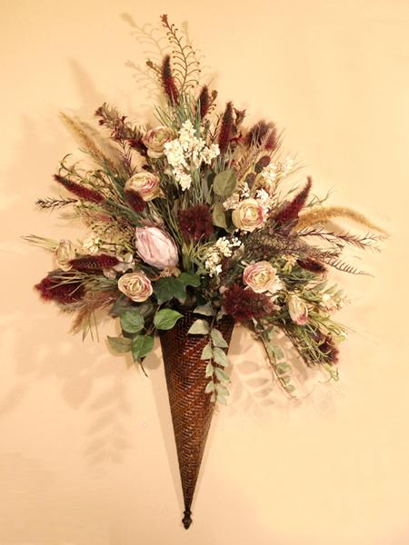 : Floral Home Decor, silk rose arrangements, tulip floral ... on Decorative Wall Sconces For Flowers Arrangements id=85844