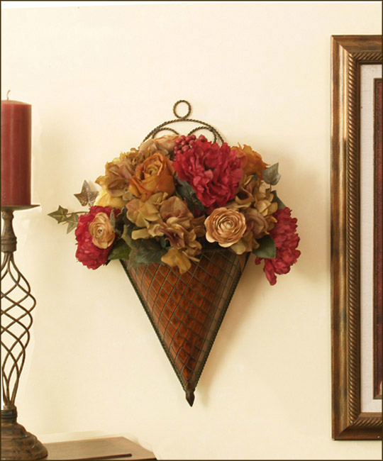 Wall Sconces : Floral Home Decor, silk rose arrangements ... on Wall Sconce Floral Arrangements Arrangement id=41787