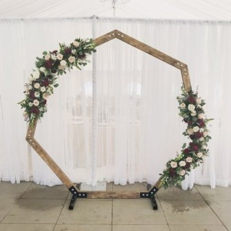 Asymmetrical wood geometric arbor