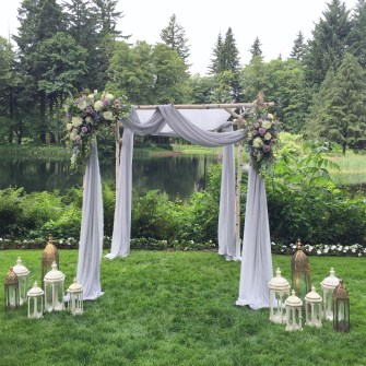 Chuppah set-up at Bridal Veil Lakes