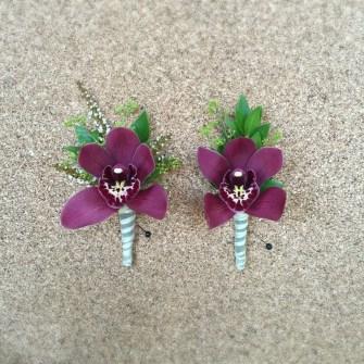 mini cymbidium orchid boutonnieres