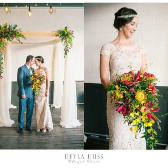Tropical Portland wedding