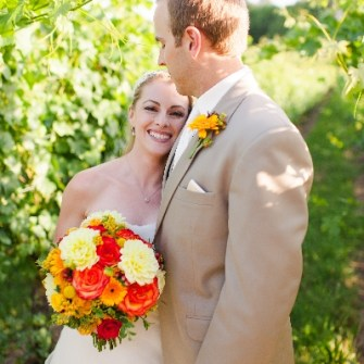 vineyard wedding bridal bouquet