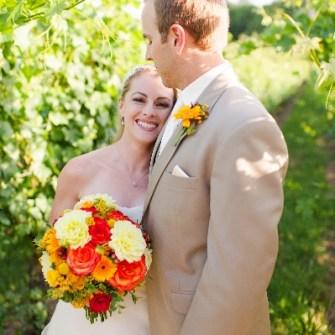 vineyard wedding bridal bouquet