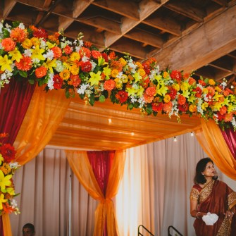 colorful mandap - side view