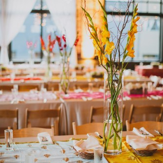 simple tall table centerpieces