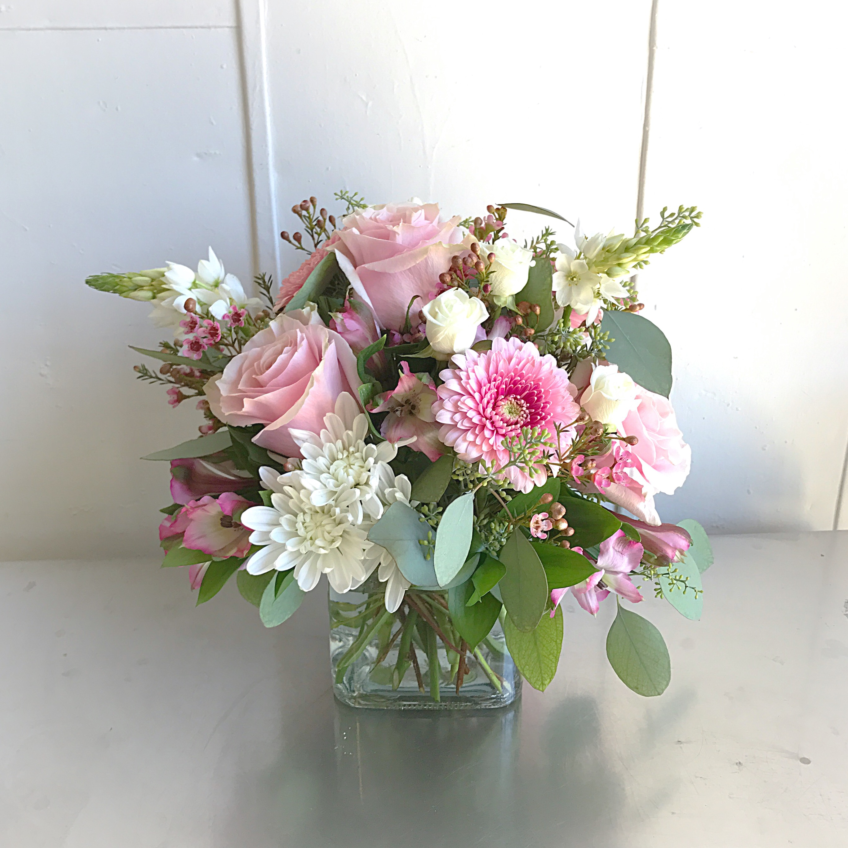 Flower arrangements gallery floral sunshine muted white pink small flowers cookies mightylinksfo