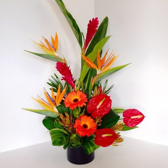 Vibrant tropical arrangement - medium assymetrical