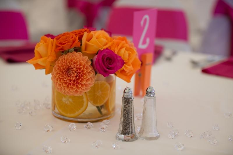 Flower arrangements gallery floral sunshine magenta orange citrus centerpieces mightylinksfo