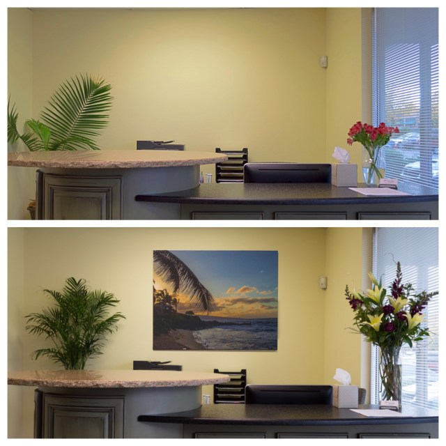 Office Before & After Reception