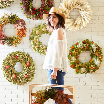 Floral Treasure Wreaths at Pier 1 Imports