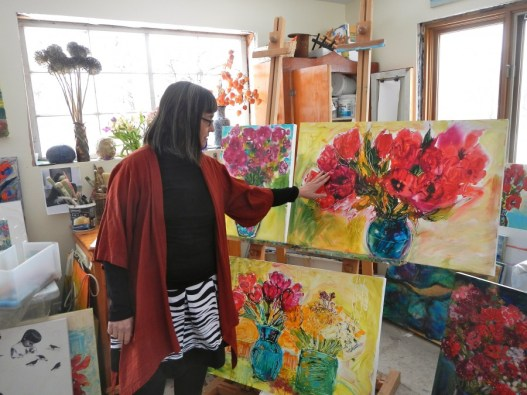 The studio has been my refuge this winter and I've been more productive because of it.