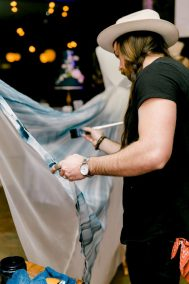 painting the gown