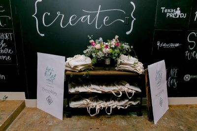 swag table at the Bespoke Bridal Exhibit