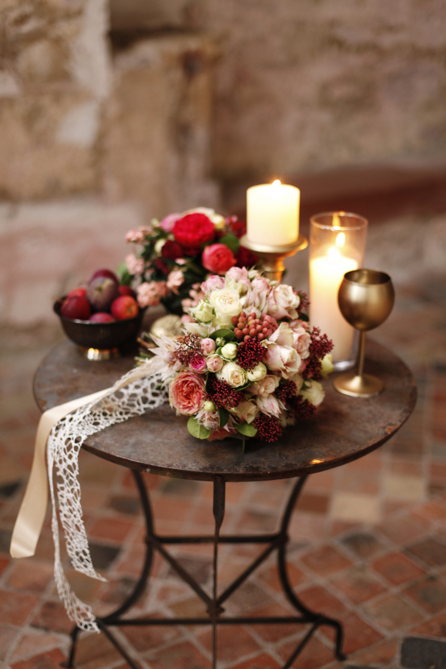 Wedding styling at Kloster Eberbach for style shoot by Flora Nova design Seattle