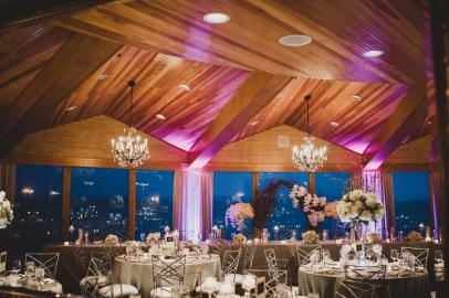 Flora Nova Design Seattle - Luxurious Winter Wedding at the Edgewater Hotel. White and Grey Wedding Reception