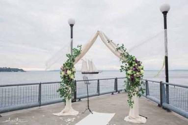 Flora Nova Design Seattle Wedding Ceremony Arch Greenery