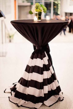 Flora Nova Design Seattle - Contemporary Black and White Seattle Art Museum Wedding Reception