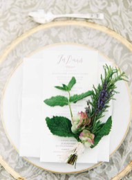 Flora Nova Design Seattle Wedding Reception Napkin Herb Bundle