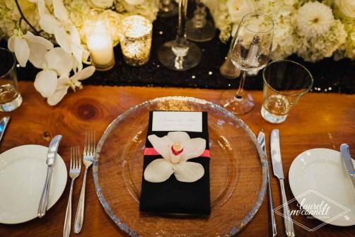 Flora Nova Design Seattle Luxury White Wedding Sodo Park Napkin Flower