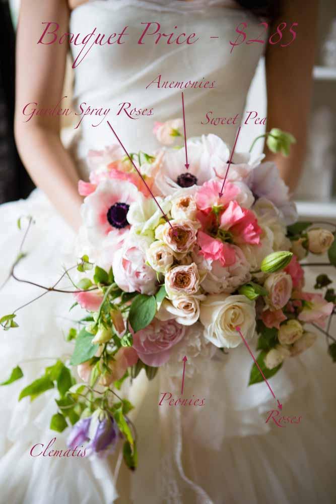 Pricing of Bouquet: Spring flowers blush bouquet recipe - Flora Nova Seattle