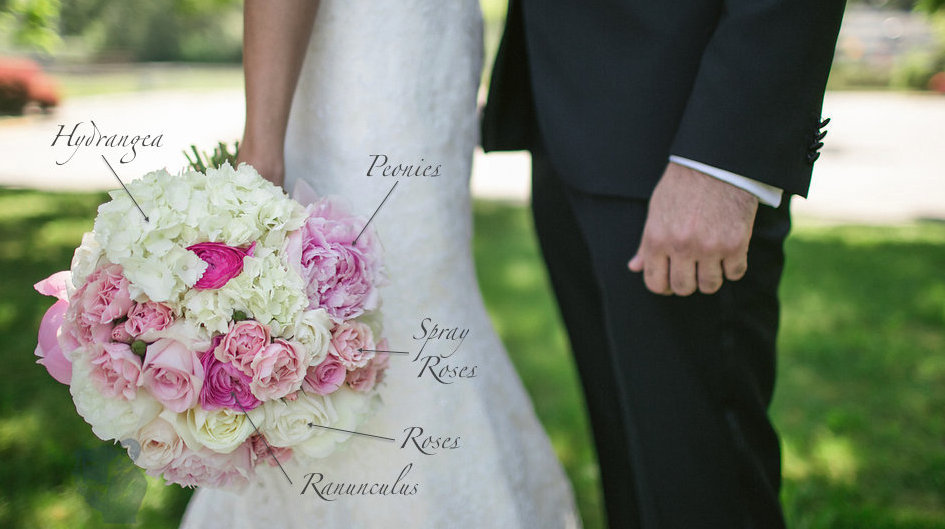 White and pink bouquet recipe - Flora Nova Design Seattle
