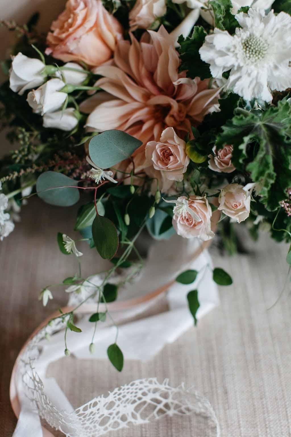 Bridal bouquet with cafe au lait dahlias - Elegant Seattle Garden Wedding by Flora Nova Design Seattle