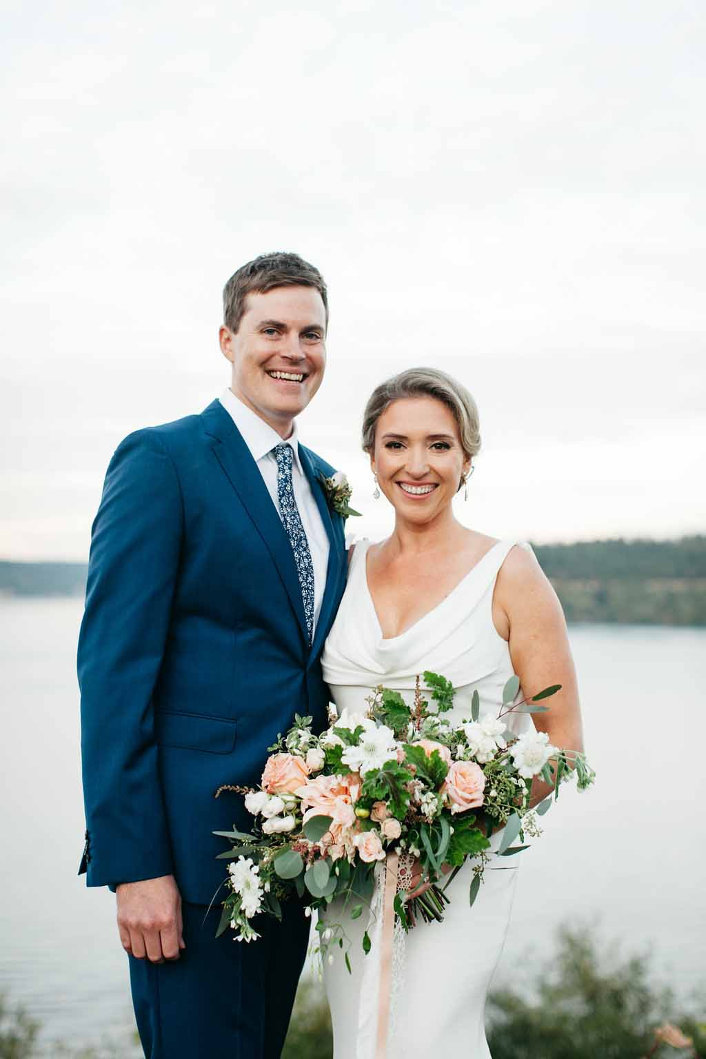 Bride and groom - Elegant Seattle Garden Wedding by Flora Nova Design Seattle