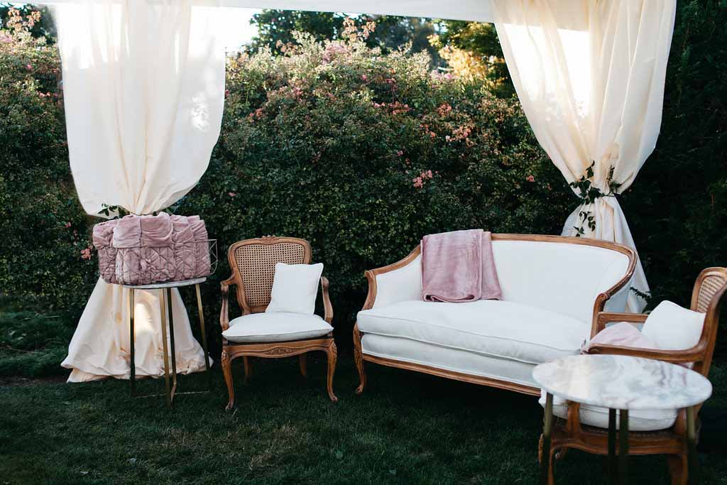 Elegant lounge furniture - Elegant Seattle Garden Wedding by Flora Nova Design Seattle