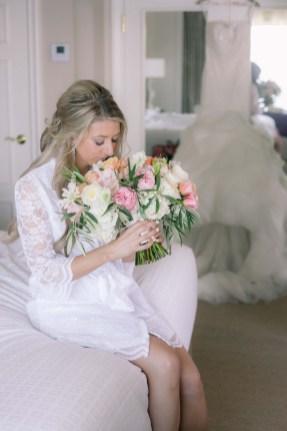 Bridal Bouquet Flora Nova Seattle Blush Woodmark Wedding