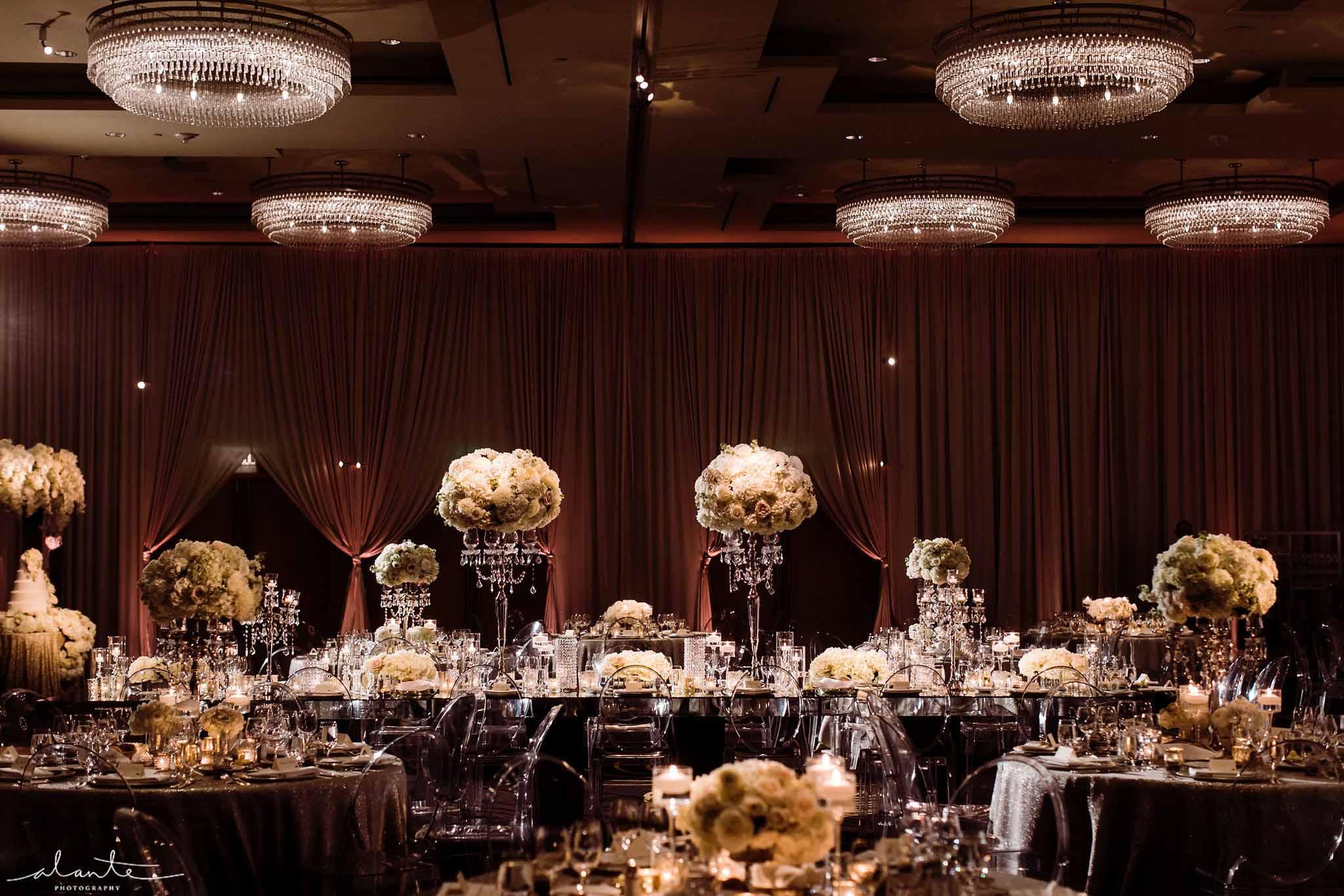 Elegant ballroom wedding reception - Luxury Winter Wedding at the Four Seasons by Flora Nova Design Seattle