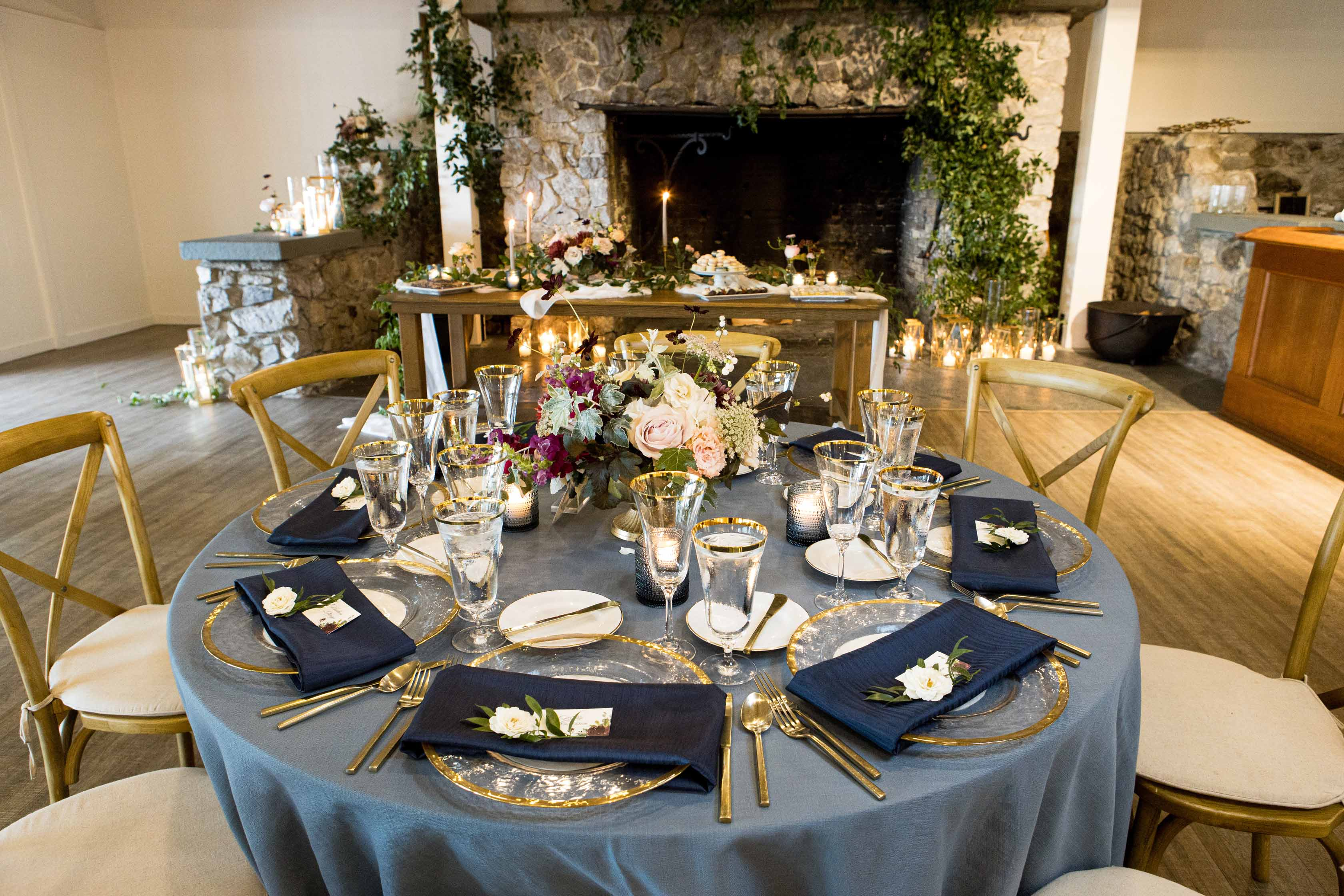 Wedding table at Roche Harbor Resort