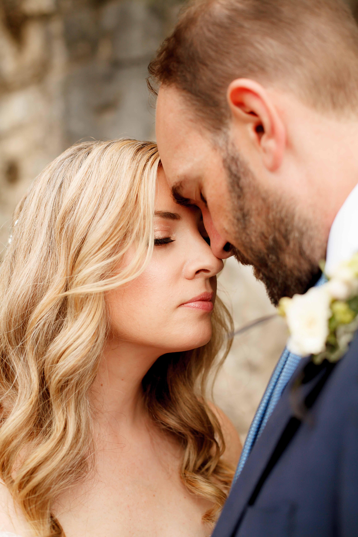romantic wedding couple at Roche Harbor resort