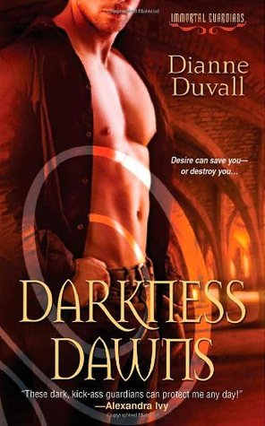 book cover for Immortal Guardians book 1 - Darkness Dawns by Dianne Duvall