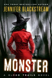 book cover for Blood Trails 2 - Monster by Jennifer Blackstream