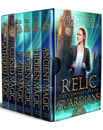 book cover for Relic Guardians Boxset books 1-6 by Meg Cowley and Victoria DeLuis