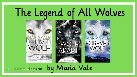 Book series banner for The Legend of All Wolves by Maria Vale