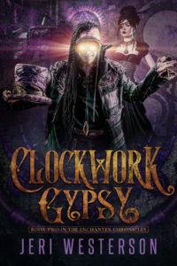 book cover for Enchanter Chronicles book 2 - Clockwork Gypsy by Jeri Westerson