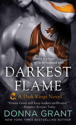 book cover for Dark Kings 1 - Darkest Flame by Donna Grant
