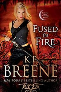 book cover for Fire and Ice Trilogy book 3 - Fused in Fire by KF Breene