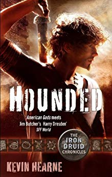 book cover for The Iron Druid Chronicles book 1 - Hounded by Kevin Hearne
