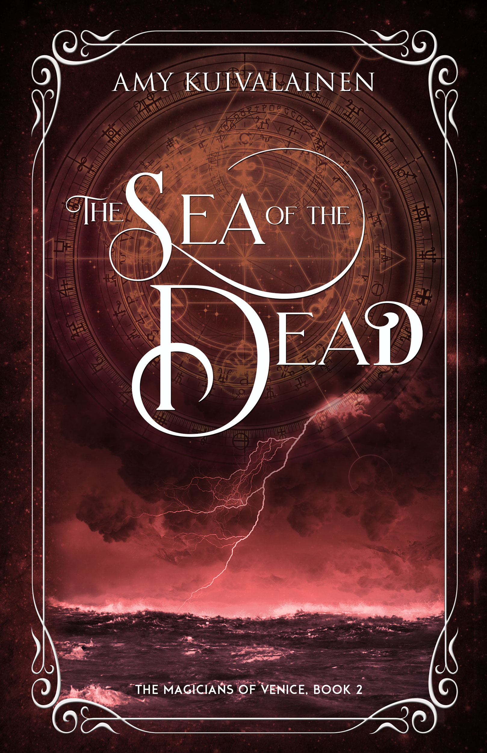 book cover for The Magicians of Venice book 2 - The Sea of the Dead by Amy Kuivalainen