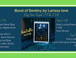 Featured Image - Blog Tour for Bond of Destiny by Larissa Ione