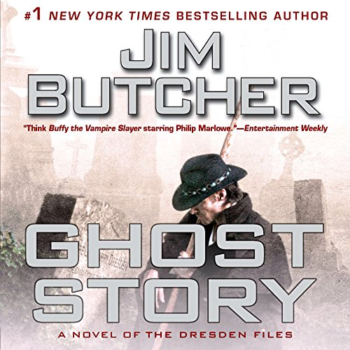 audiobook cover for The Dresden Files 13 - Ghost Story by Jim Butcher - Read by James Marsters
