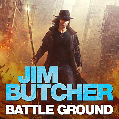 audiobook cover for The Dresden Files 17 - Battle Ground by Jim Butcher - Read by James Marsters