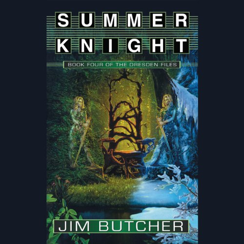 audiobook cover for The Dresden Files 4 - Summer Knight by Jim Butcher - Read by James Marsters