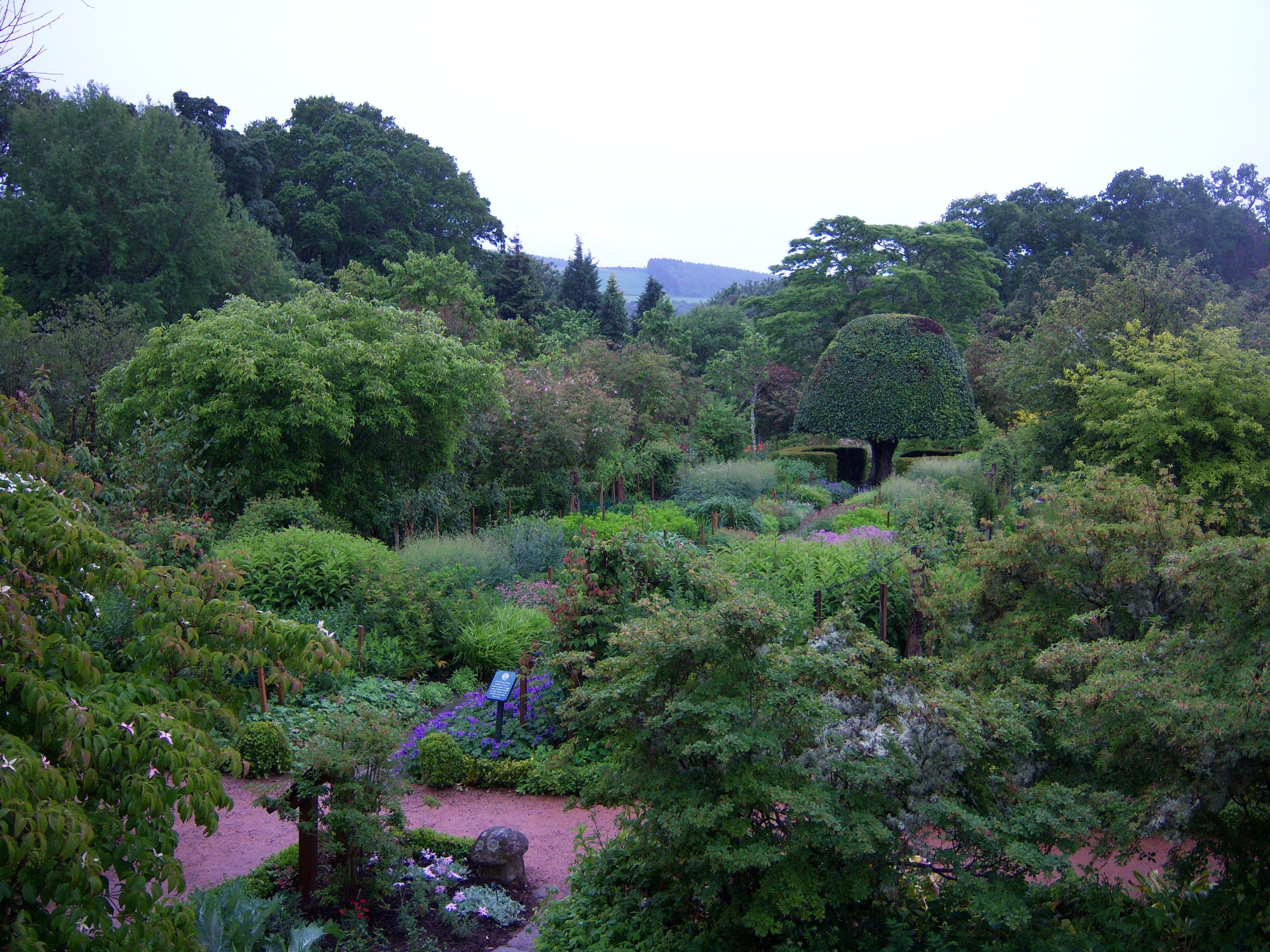 Crathes Castle Garden Late Summer Borders