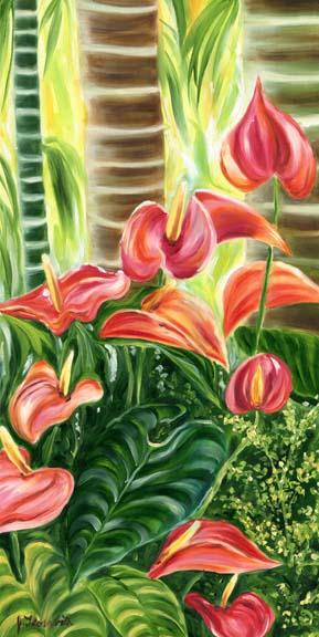 Tropical Hawaiian Pink Anthurium Flowers Floravita