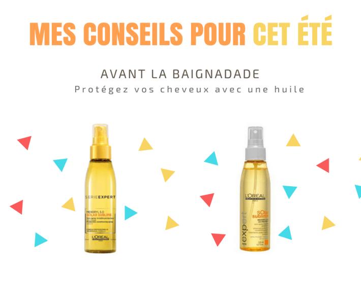 Publication huile de soins cheveux, soin solaire, coiffure artigues
